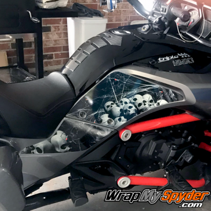 BRP Canam Spyder F3 Knee Panel kit Black widow Party