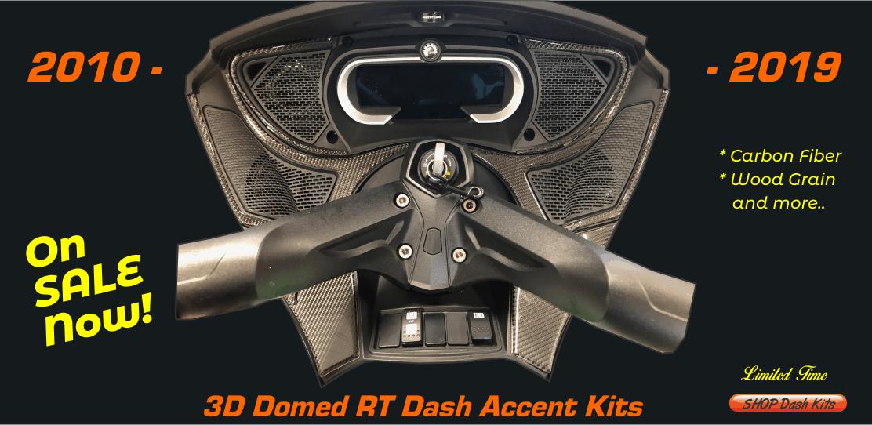 Chrome 3D Doming Autocollan Twin Cam