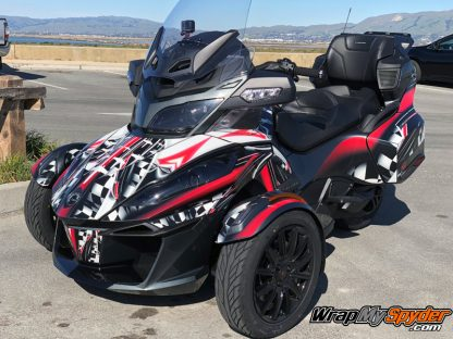 Can-am Spyder RT wrap kit Adrenaline Rush Red