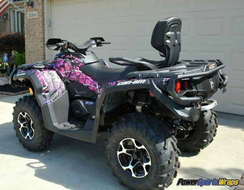 Muddy Girl ATV vinyl wrap