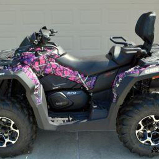 Muddy Girl Camo ATV wrap