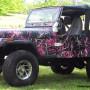 Muddy Girl Jeep wrapping film camo