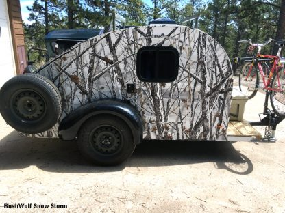 BushWolf Snow Storm camouflage wrapping film