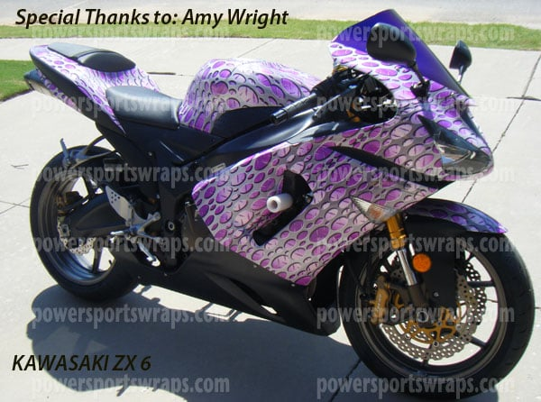 punch metal plate purple wrapping film