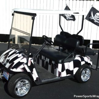 Racing Flag golf car wrap