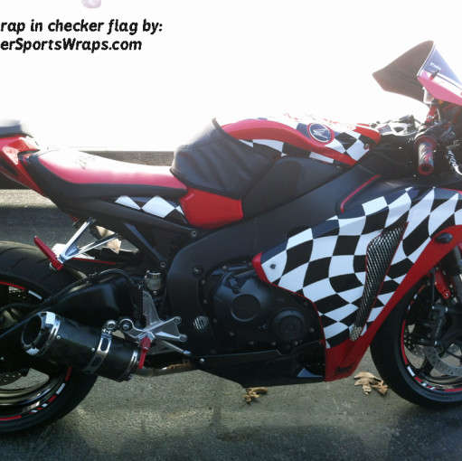 Checker Flag Vinyl bike wrap