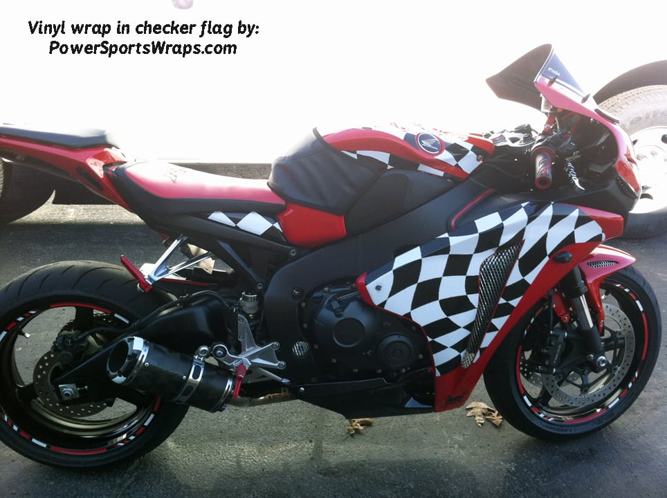 Checker Flag Vinyl bike wrap