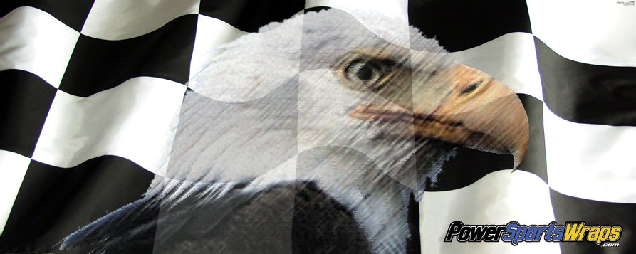 Racing Flag Eagle Vinyl Graphics