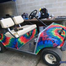 Tie Dye vinyl wrapping film golf cart