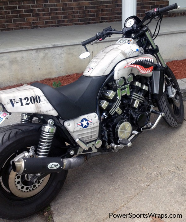 Graphics For Flying Tiger Motorcycle Graphics Wwwgraphicsbuzzcom - Vinyl bike wrapgraphics for motorcycle tank wrap graphics wwwgraphicsbuzzcom