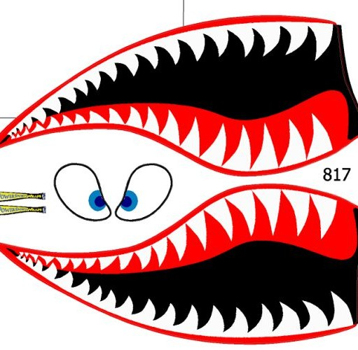 817 TSK Shark Face