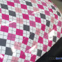Argyle gray pink wrapping film