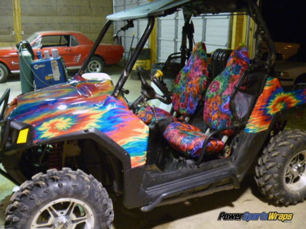 Tie Dye fire UTV wrapping film