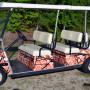Orange golf car wrap Confusion 301