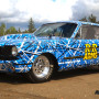 mustang car wrap confusion Blue 303