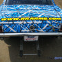 Blue wrapping film on Blue Mustang 303