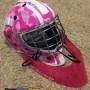 Pink camo Goalie helmet