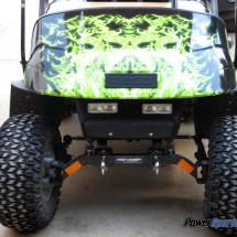 Golf cart green flames