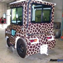 Giraffe tram wrap