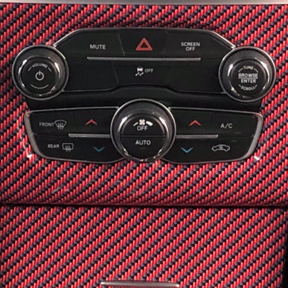 Red-Black-carbon-fiber-close up view