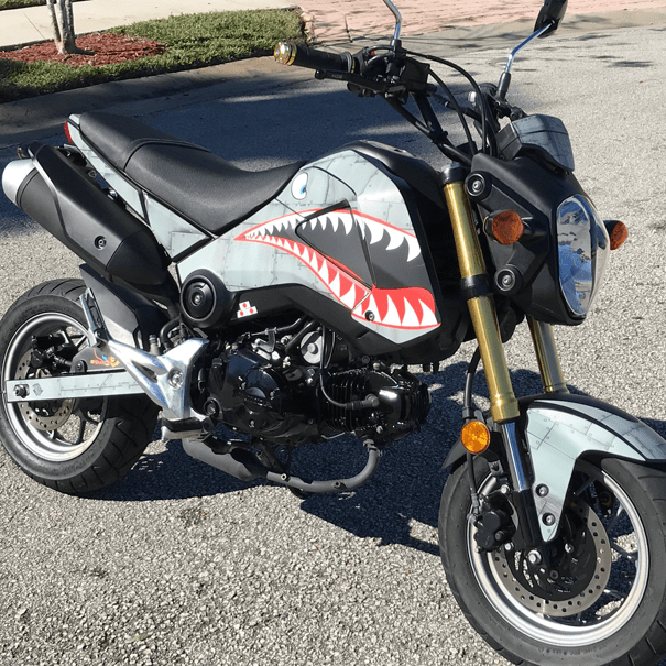Honda Grom Dirty Aircraft Metal P40 Vinyl Graphics Kit