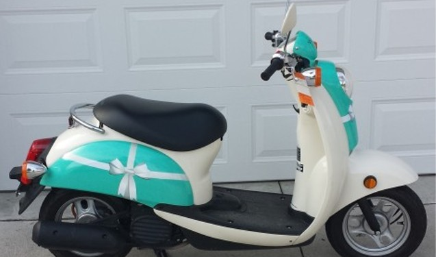 Honda Metropolitan Scooter Wrap- Tiffany & Co. theme
