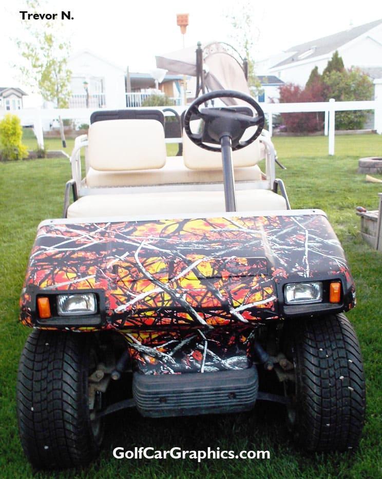 WildFire Camo golf car wrap