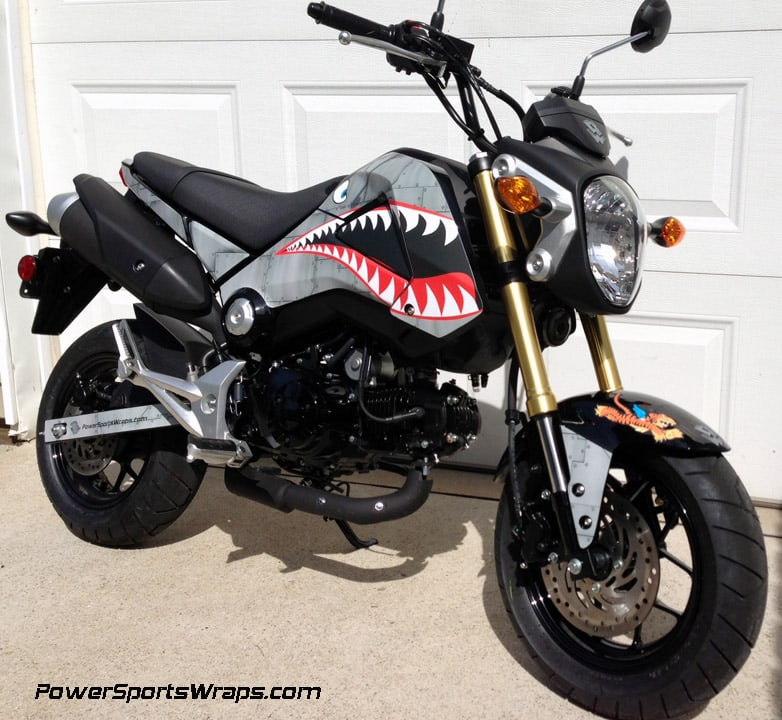 2014 Honda Grom Graphics Kit Dirty Air Craft Metal P40