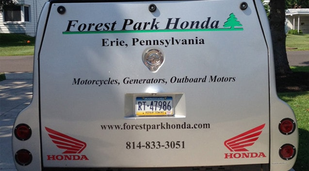 Forest Park Honda Enclosed Trailer Graphics