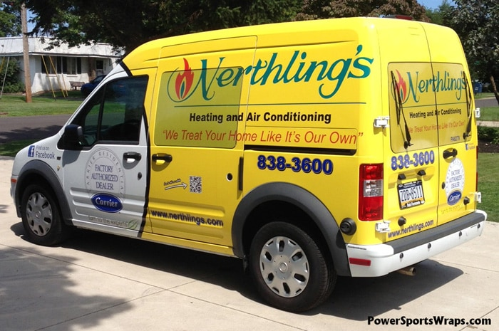 f2ea3461f4 Nerthlings Heating and Air Conditioning Transit Van Wrap