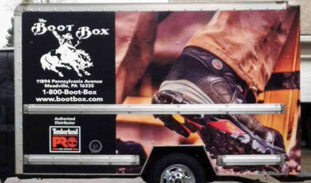 The Boot Box Timberland Pro Truck Wrap