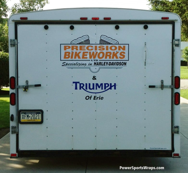 24 foot trailer graphics Triumph