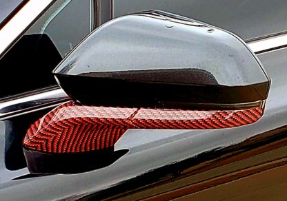 Deep Red-Black Carbon fiber mirror