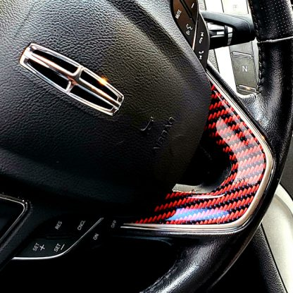 Deep Red-Black Carbon fiber steering wheel