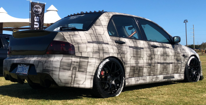 Dark Dirty-Air-Craft-metal-matte-finish-car-wrap
