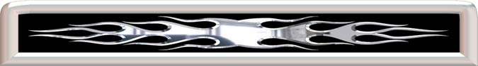 G9 3D Chrome Flame Grill Decal