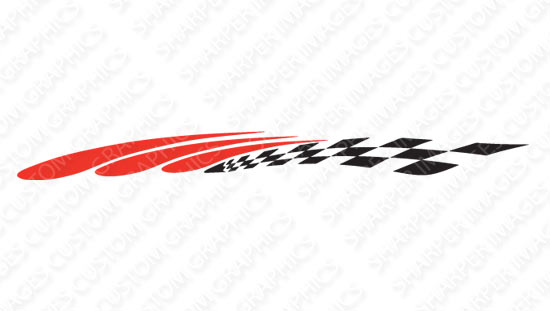 Chicane golf car decal design