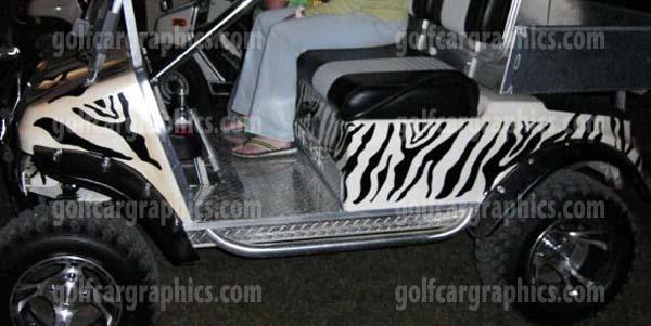 Zebra golf car Graphics Kit