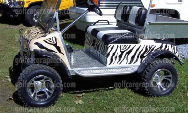 Zebra Ul54 Golf Car Graphic Kit Sporty Trim Kits