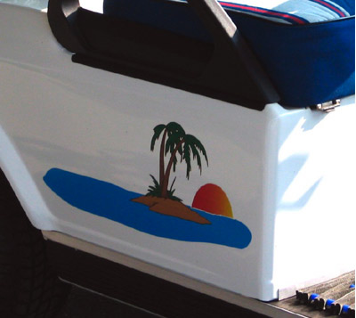 139-Paradise Golf Car Graphic
