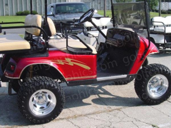 Craving golf cart decal gold