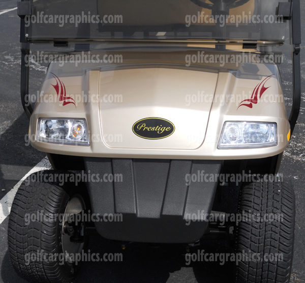 Raptor golf car decal design