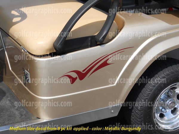 Side view Raptor golf car decal design