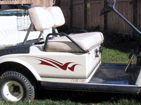 Raptor B4 golf cart decal Burgundy