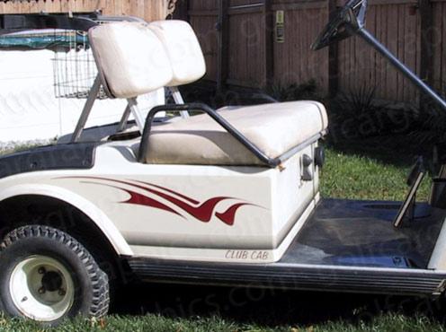 Raptor B4 golf cart decal Burgundy
