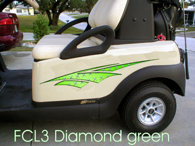 Diamond Green Dagger decal