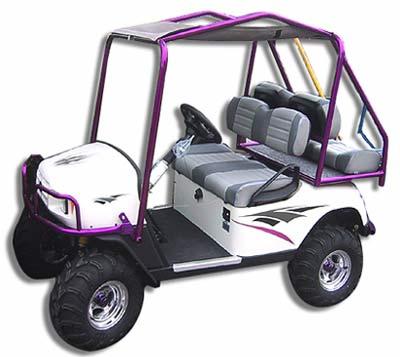 golf cart graphic decal design dagger