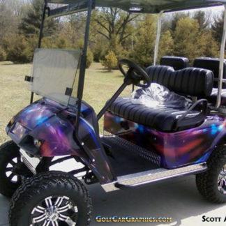 Do it yourself E-Z-GO golfcar-wrap-Hymanaius pattern