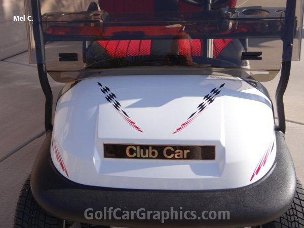 Winner B1 Decal Golf Car Graphic | Graphic Decal Designs on race car graphics, car and truck decals graphics, golf cart wraps and graphics,