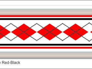 G12 3D Argyle Red/Black Grill Decal Golf Car Graphic